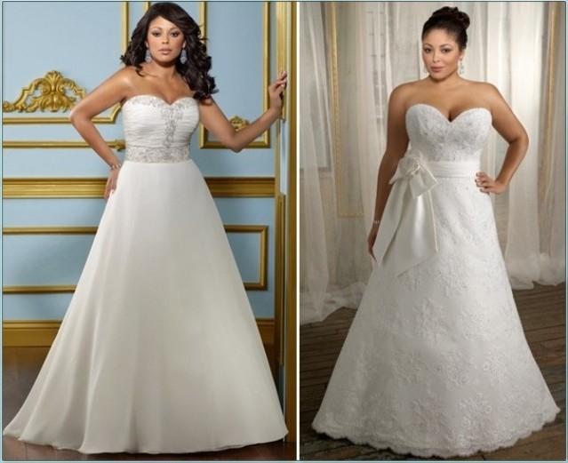Свадебные платья на пухленьких